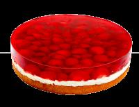 Erdbeerobsttorte mit frischen Erdbeeren